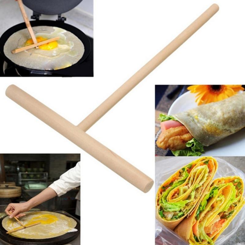 Máquina de crepé de madera China escurridor de masa de panqueques Multi-funcional Kit de torta DIY herramienta de cocina casera
