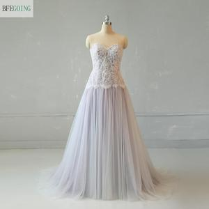 Tulle Lace Beading Sweetheart Strapless Sleeveless Floor-Length A-Line Wedding Gown Bridal Dress Sweep/Brush Train
