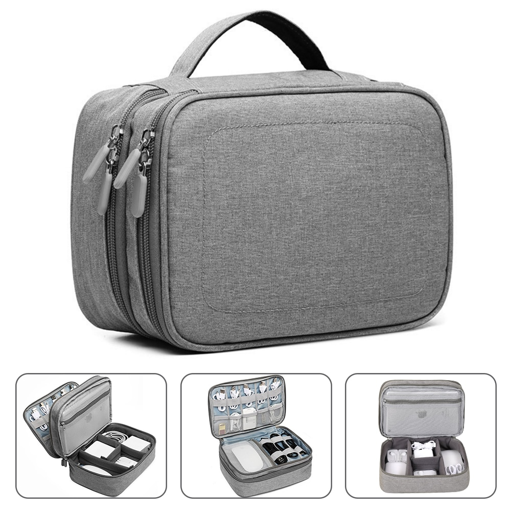 Handle Travel Electronic Accessories Multipurpose/Organizer Storage Bag Case for Power Bank, Hard Dr