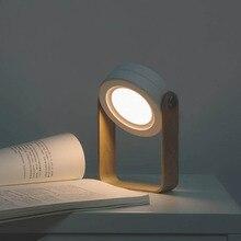 Portable 2W lampe à suspendre sans fil lampe de Table veilleuse pli réglable réglable Table en bois nuit Led avec chargement USB