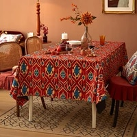 new art tablecloth garden pattern table cloth wedding home decoration tablecloths kitchen waterproof oil proof large table cloth
