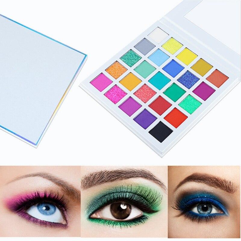 Paleta de sombra de ojos de 25 colores brillantes pigmento arcoíris paleta de sombra de ojos de larga duración impermeable mate brillo cosméticos