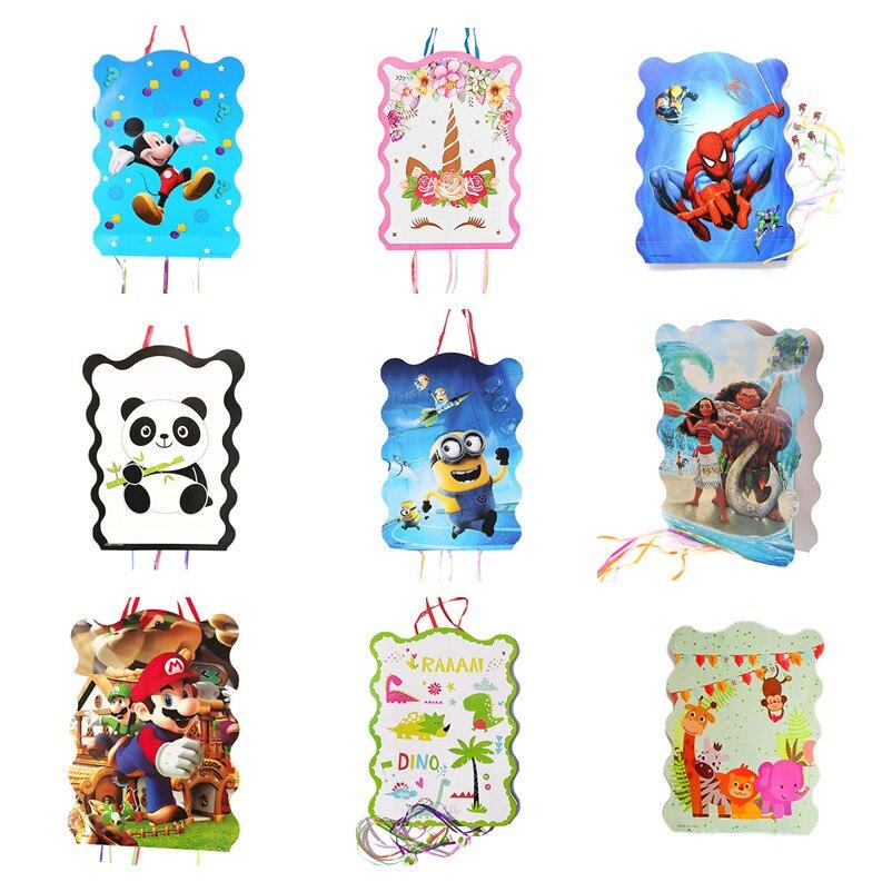 19 видов мультфильмов, пината, Супер Марио, принцесса, Микки, Минни, Моана, украшение для вечеринки для детей, день рождения, фестиваль, подаро...
