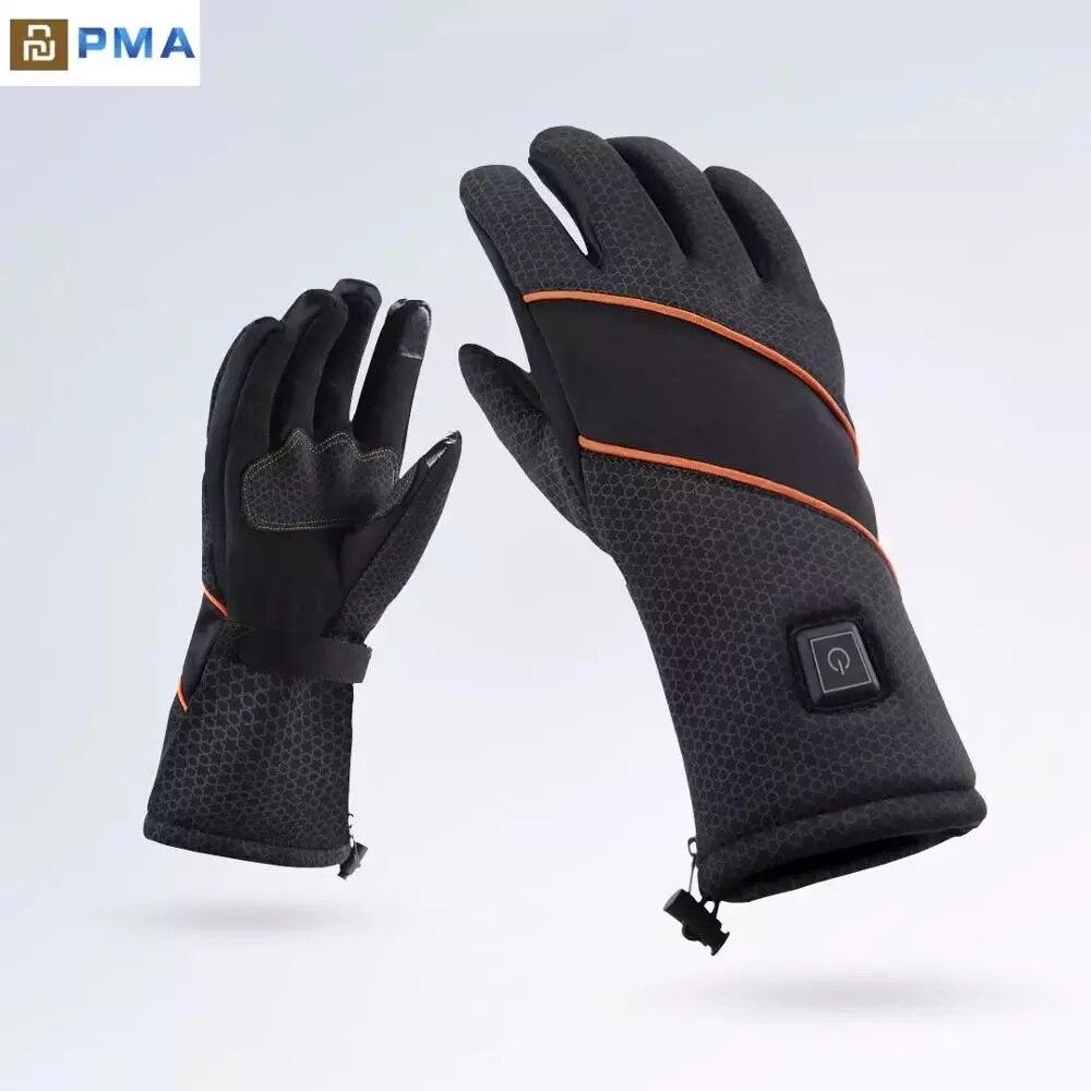Youpin PMA-قفازات تسخين ذكية ، مع بطارية قابلة للإزالة ، مقاومة للرياح ، شاشة تعمل باللمس ، أمان