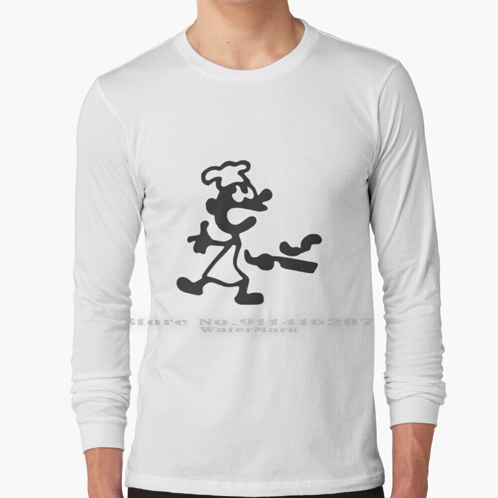 Game & Watch : Chef T Shirt 100% Pure Cotton Game Watch Game And Watch Chef Super Smash Bros Ultimate Smash Bros Mr Game Watch