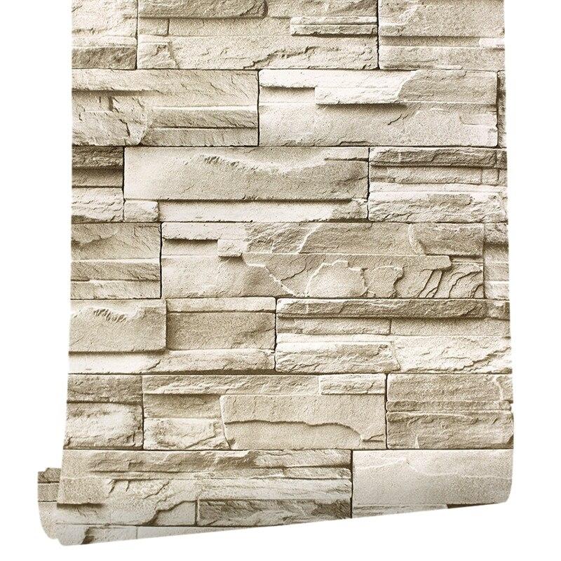 6M Vinyle 3D Brique Mur De Roche Papier Autocollant Imperméable Auto-Adhésif Sticker MURAL BRICOLAGE Meubles Stickers Muraux Chambre Art de mur À La Maison