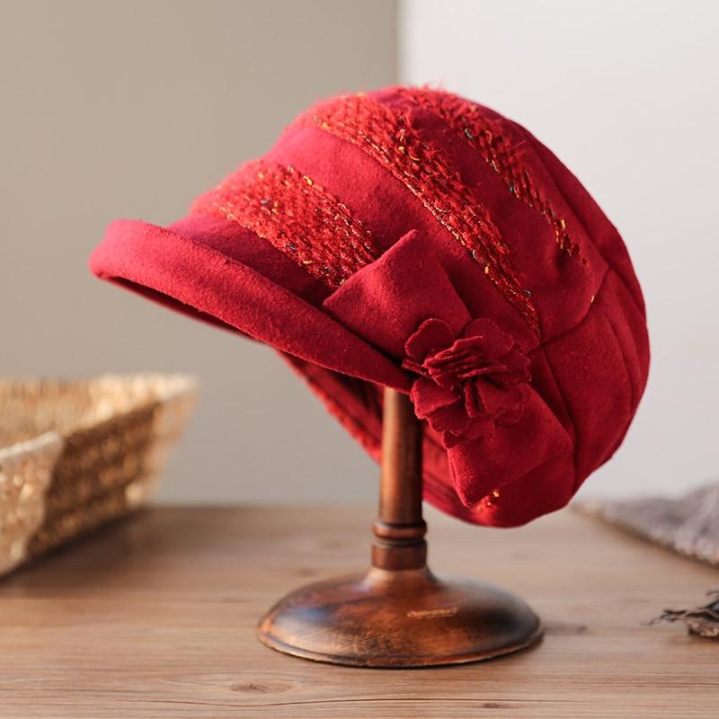 Sedancasesa 2020 冬春のファッションの女性バケツ帽子レディースカジュアルストライプため保温クローシュ帽子 WG150059