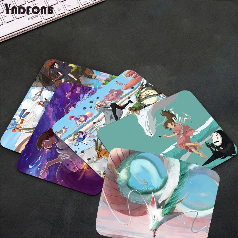 YNDFCNB Studio Ghibli Spirited Away Totoro Мышь колодки компьютер Аниме Коврик для мыши и ноутбука Мышь коврик рукописного ввода настольные компьютеры Коврик...