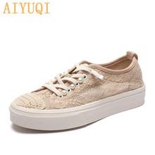 AIYUQI Fisherman Shoes Women 2021 Summer New Pearl Casual Net Yarn Women's Vulcanized Shoes Korean S