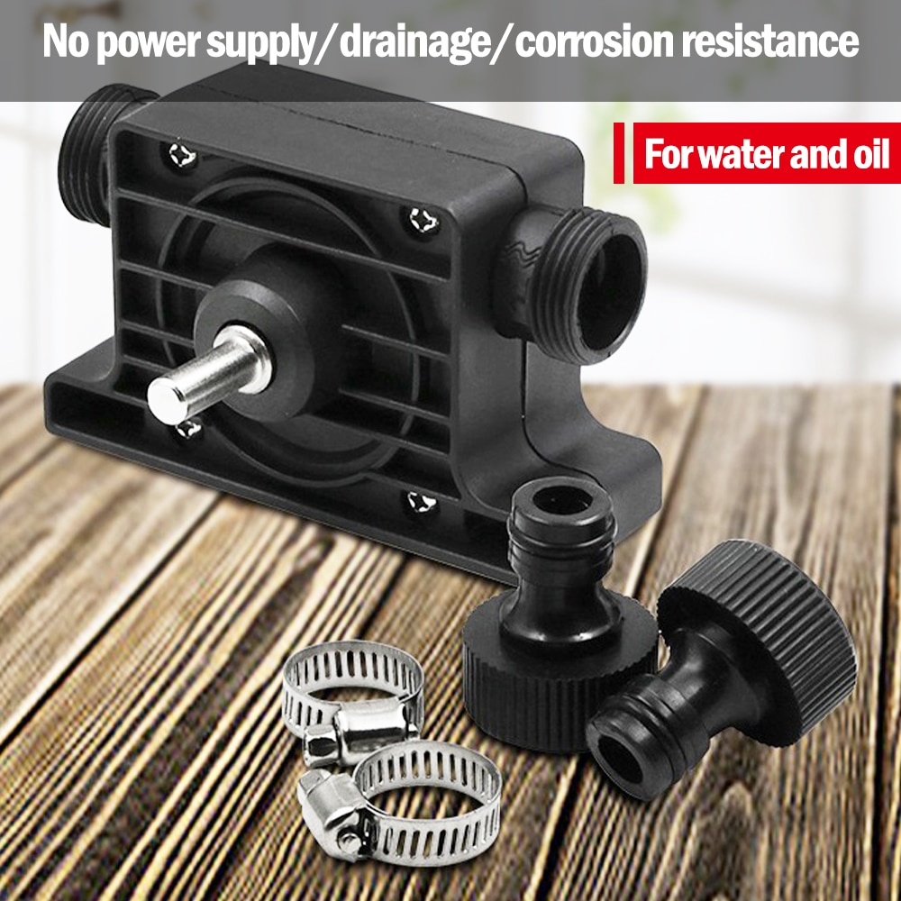 Electric Drill Pump Self Priming Transfer Pumps Oil Fluid Water Portable Round Shank Heavy Duty Self-Priming Hand