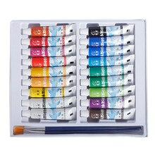12/18/24 Kleuren Acrylverf Kids Kleur Buizen Set Keramische Pigment Pastel Kunstenaar Diy Stenen Muur Craft Schildert Hand geschilderde Tool