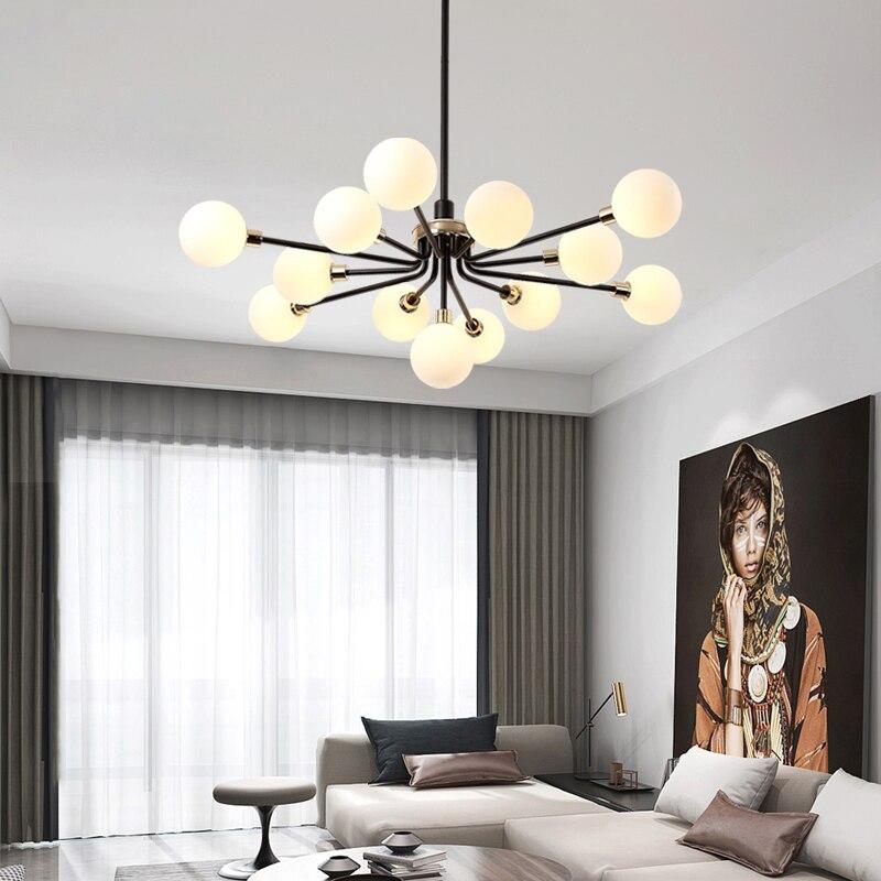 Moderno burbuja de vidrio sombra rama lámpara de iluminación para la sala de Casa deco lámpara colgante nórdica diseño lámpara de cocina 110V/220V