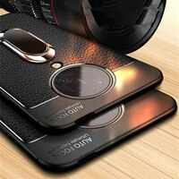 for xiaomi poco x3 nfc case leather ring holder soft silicone cover for pocophone poco f3 m3 x3 pro nfc f2 pro redmi note 10 pro