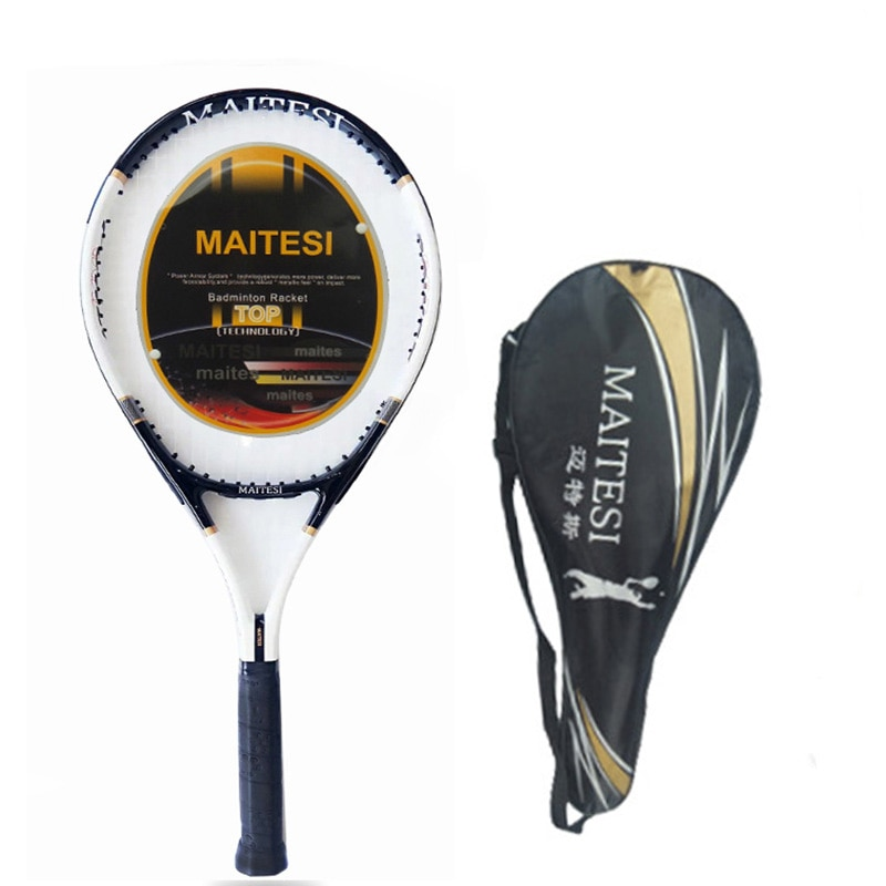 Tennis Racket Carbon Tennis Racquets With Tenis Bag Grip Men Women Training Beginners Padel Raqueta Raquete