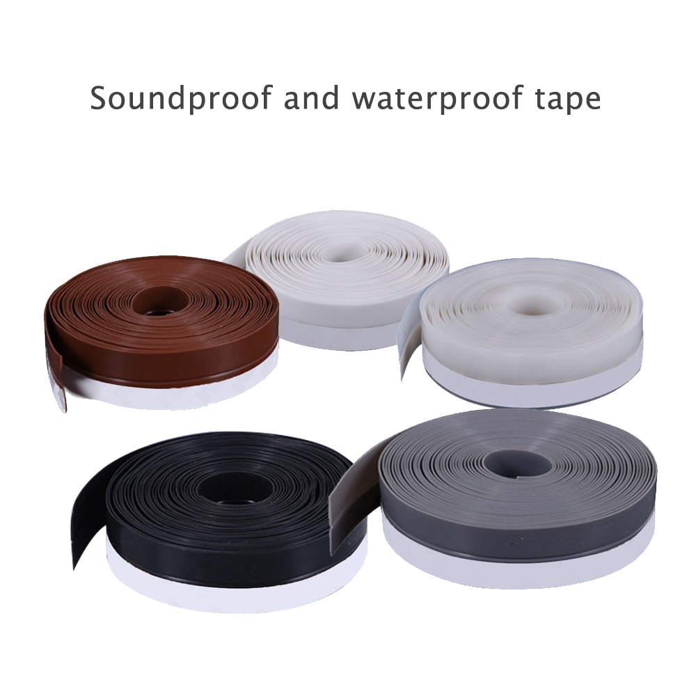 1 rollo de cinta de goma de silicona sellado de pared de baño impermeable cinta autoadhesiva cocina fregadero borde cinta de sellado