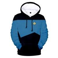 Высокое качество детских Star trek 3D толстовки и свитеры; Модная одежда с длинными рукавами; Звездный путь Косплей толстовки размера плюс для му...