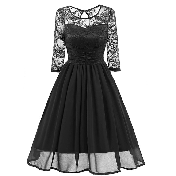 Sexy Dress Club Women Clothes Dresses Woman Party Night Plus Size Gothic Red Lace Vintage Black Fashion