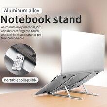 Alfavoce portátil liga de alumínio suporte dobrável ajustável levantamento resfriamento suporte para computador portátil portátil