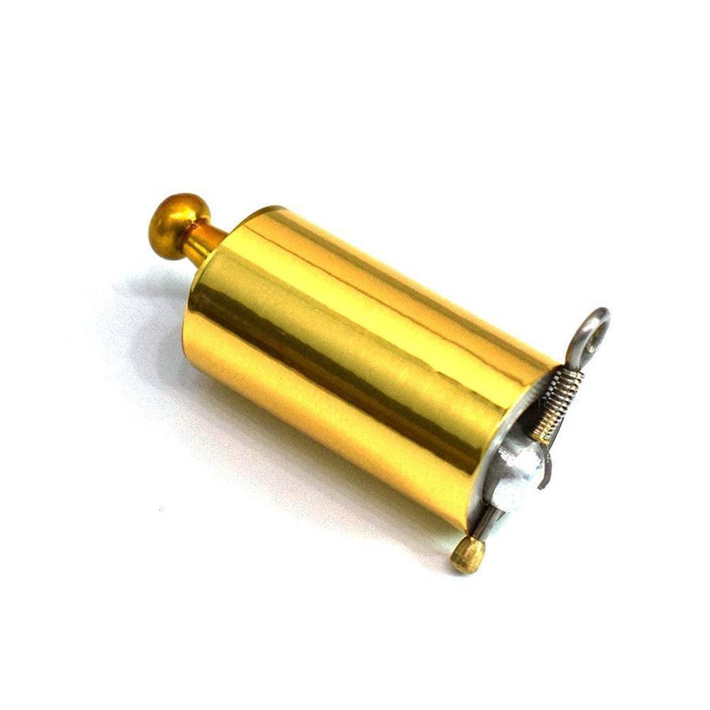 Palo de autodefensa dorado de 1,1 m con aro dorado, vara de autodefensa, palo de autodefensa, propapole mágico, autodefensa L3B9