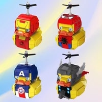 marvel the avengers cosplay duck creative blocks spiderman ironman small particle building bricks puzzle assembled children toy