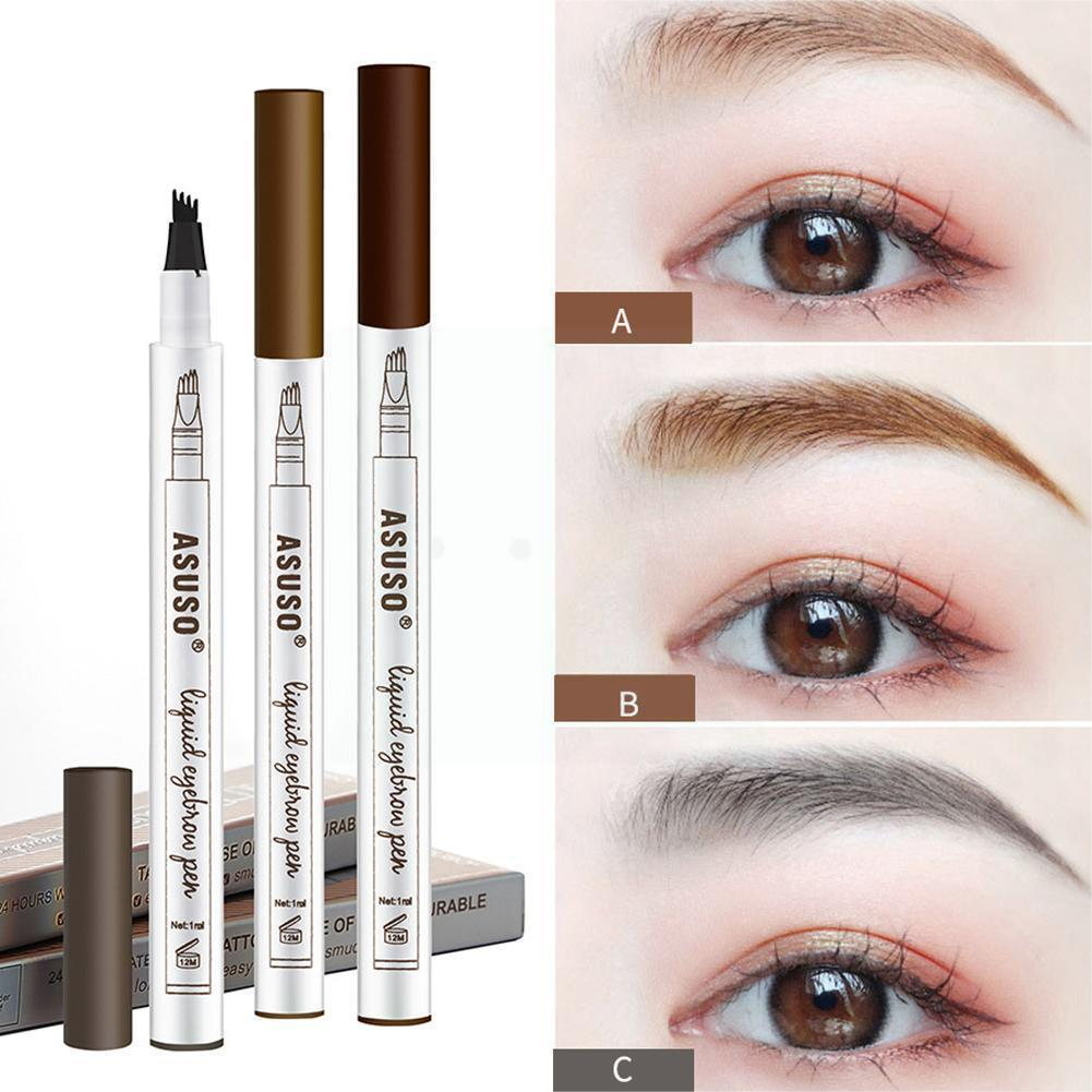 1pcs Women Makeup Sketch Liquid Eyebrow Pencil Waterproof Liner Brown Dye Long Brow Tattoo Eyebrow T