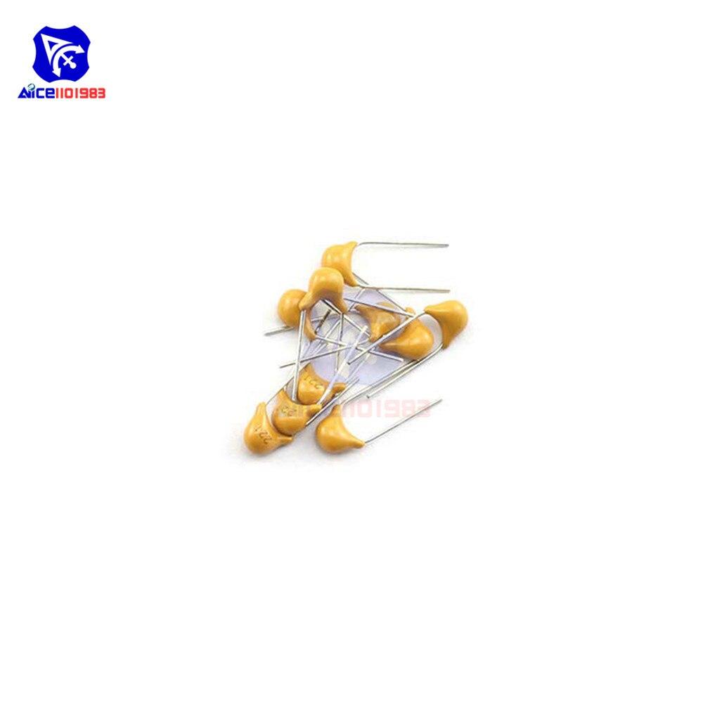 diymore 50PCS 221 DIP 220pF 0.22nF 50V Ceramic Disc Capacitors