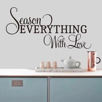 season everything with love kitchen quotes wall decals vinyl modern home decor kitchen coffee shop sign wall sticker murals e518