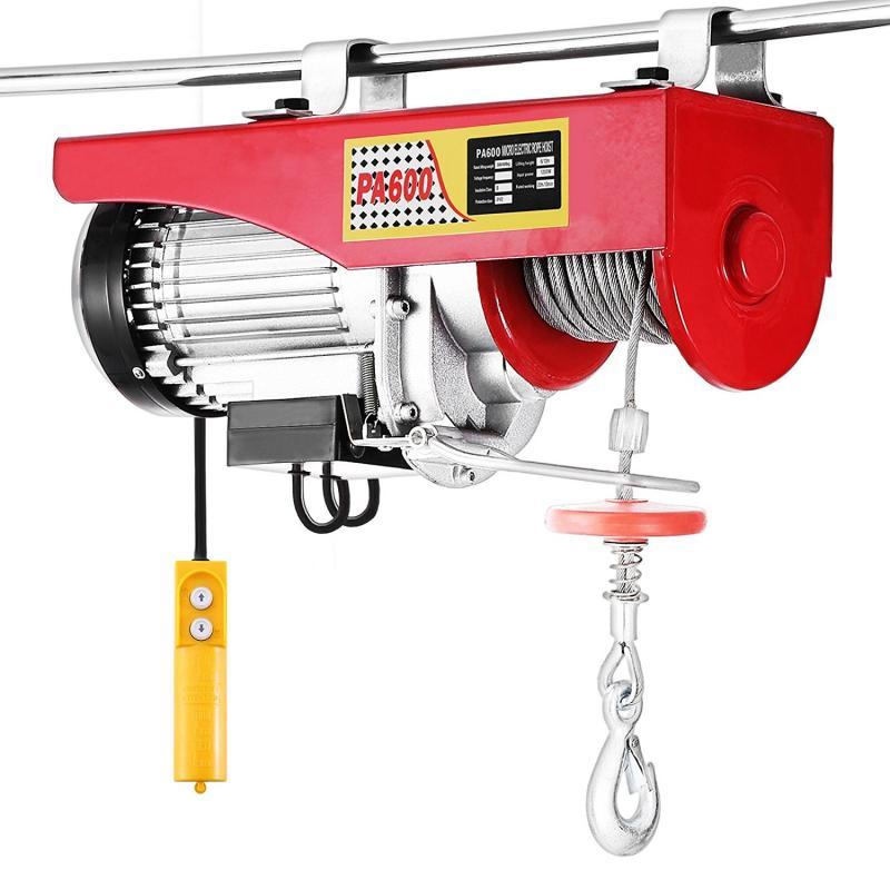 500W 800W 1050W 1400W رفع رافعة الأحمر رافعة الكهربائية كابل دائم 200 كجم 400 كجم 600 كجم 800 كجم رافعة كهربائية التحكم عن بعد HWC