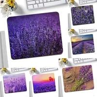 lavender purple flowers beautiful anime mouse mat desktop mousepad gaming small mouse pad 25x20cm keyboard mat