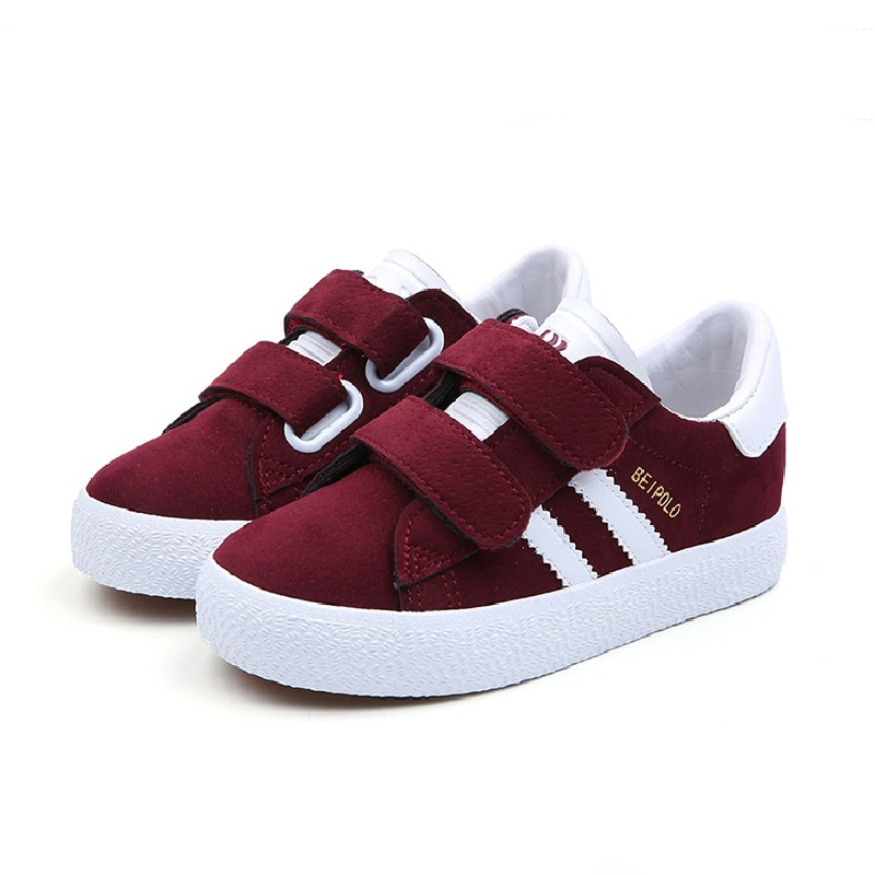 autumn 2018 boys girls lace up fashion sneakers baby toddler little big kid genuine leather trainers children school sport shoes Flat Shoes Kids Shoes Children Breathe Boys Sport Trainers Casual Baby School PU Leather Sneaker Girls Sneaker Toddler 2020
