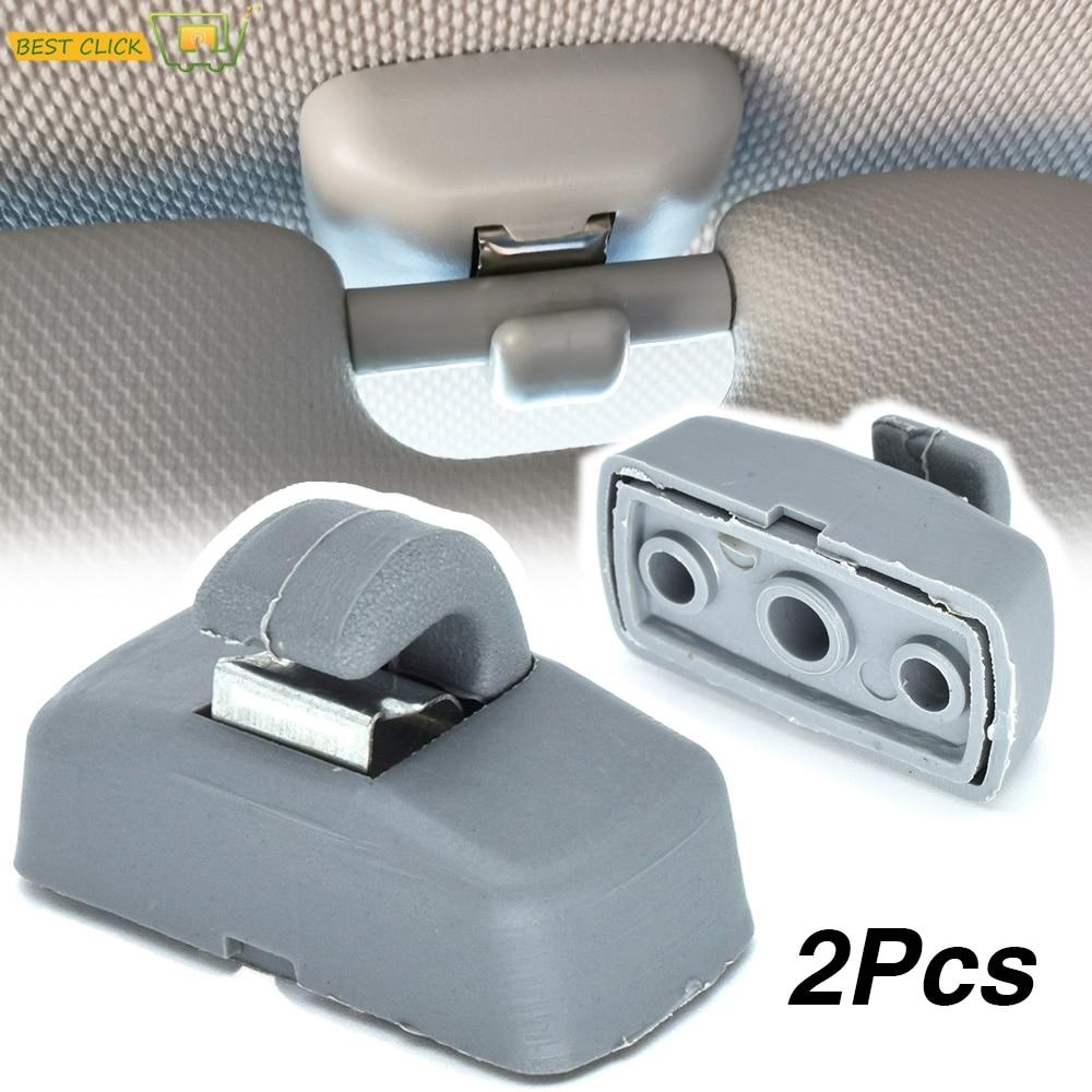Grey frente parasol gancho soporte de Clips para Seat Altea XL Arosa...