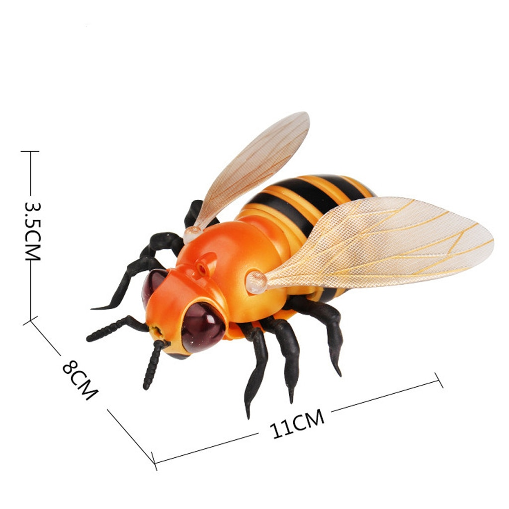 Infrared Remote Control Bee RC Animal Toy Prank Reptile Insects Joke Scary Trick Prank Bugs