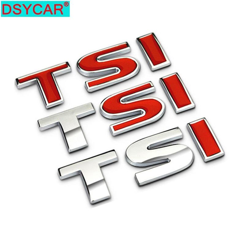 DSYCAR 1 Uds 3D Metal TSI guardabarros lateral del coche emblema del maletero trasero calcomanías para Volkswagen Sagitar Golf Magotan Polaris Boracay