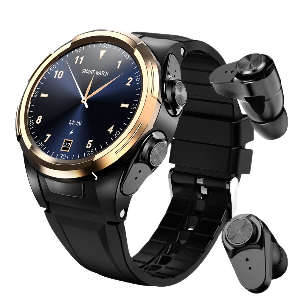 EnoLX S201 Heahset Smart Watch, Men Bluetooth Earphones,Body Temperature,Thermometer,Full Touch Screen,Sport Smartwatch Band