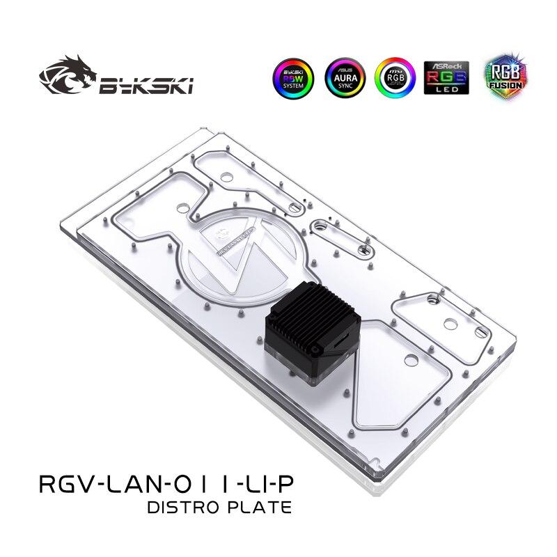 Bykski الممر المائي المجلس ل ليان لي O11 وحدة المعالجة المركزية/GPU السائل التبريد برودة خزان المياه خزان ، RGV-LAN-O11-LI-P