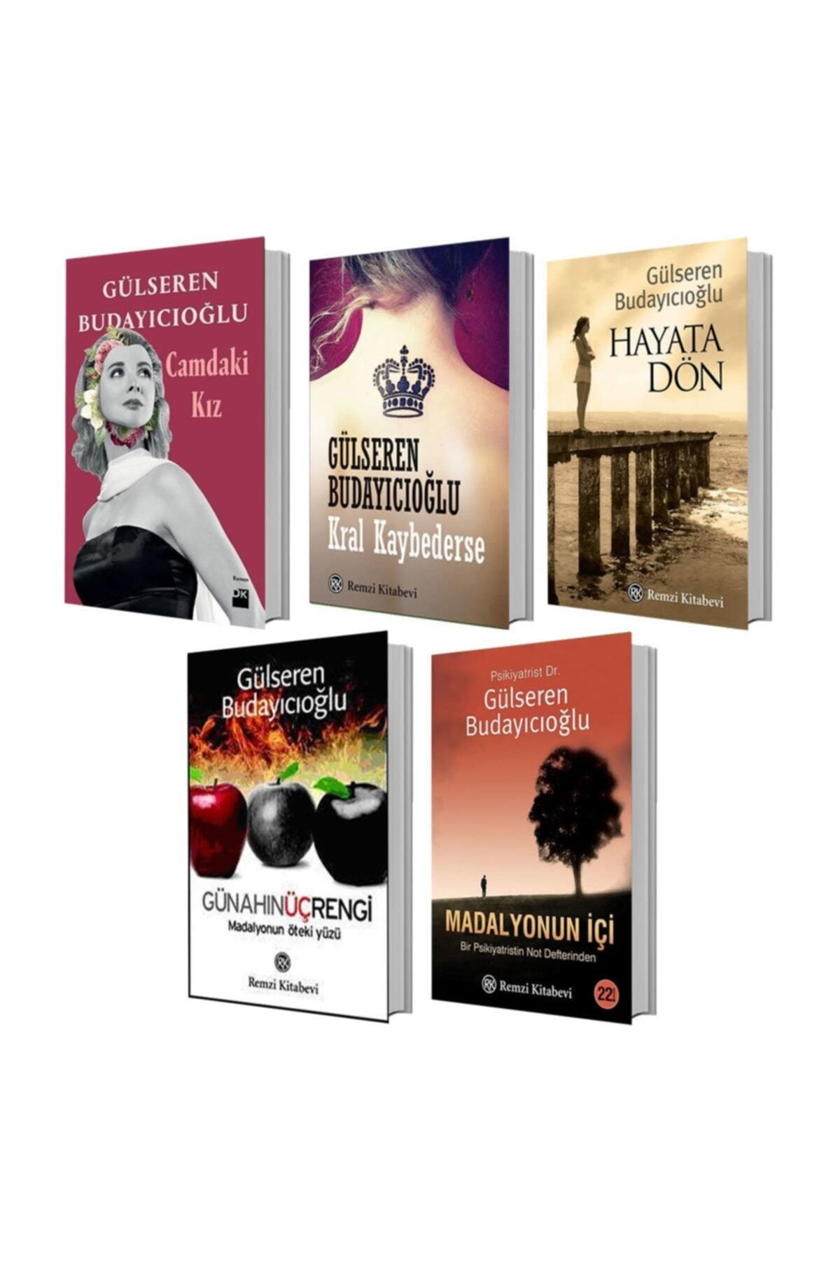 Gulseren Budayicioglu 5 Books Set In Girl Madalyonun Ici Gunahin Uc Color Life Don King Loses Turkish Novels Reading