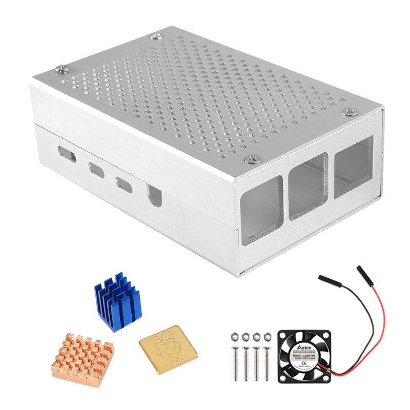 Чехол Raspberry Pi 4 B, алюминиевый чехол, металлический корпус для Raspberry PI 4 Model B