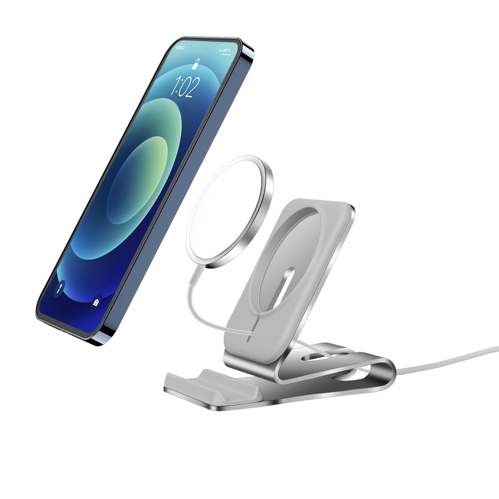 Rondaful Non-slip Wireless Magnetic Phone Charger Stand Holder For IPhone 12 Magsafe Desk Power Base Dock Cradle Bracket