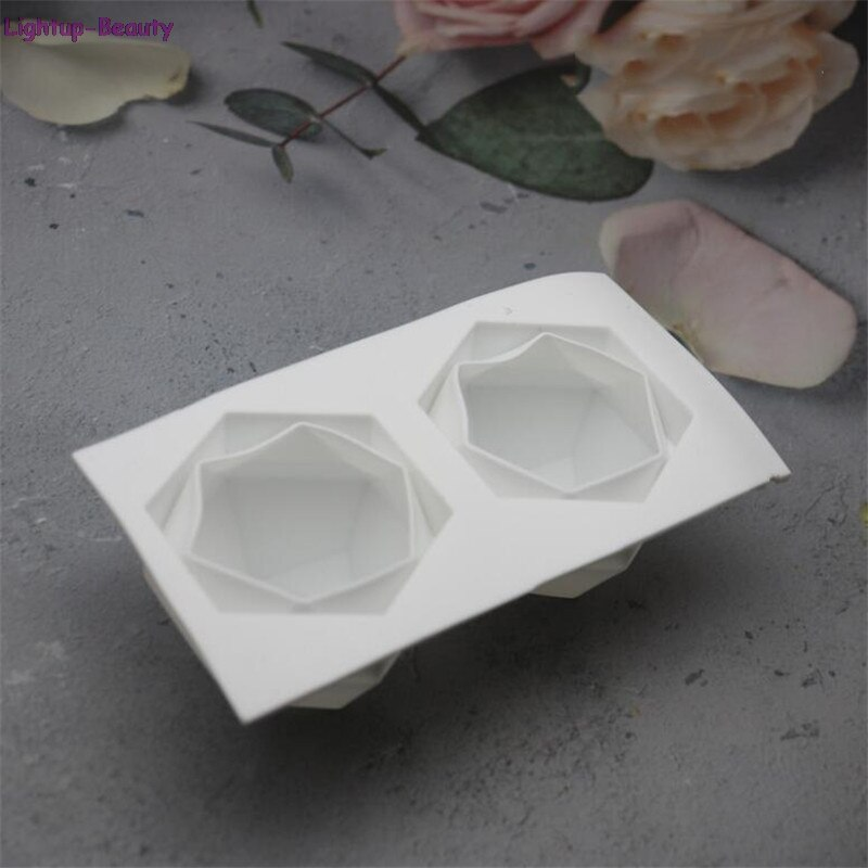 3D Geometric Candle Silicone Molds Diamond Cube DIY Soap Mold Aromatherapy Plaster Decorating Mould Handmade Crafts
