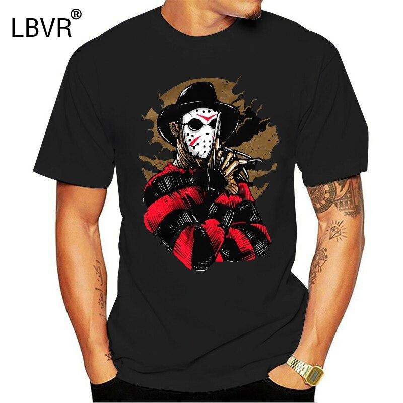 Freddy Krueger T Shirt Jason Mask Elm Street Friday 13th Horror HalloweenCool Casual pride t shirt men Unisex Fashion