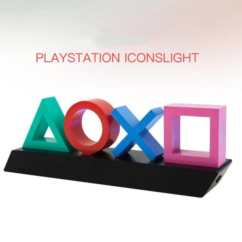 بلاي ستيشن 5 الرموز ضوء 3 أضواء وسائط الموسيقى رد الفعل اقامة ألعاب الديكور Gameroom الاكسسوارات ليلة ضوء PS4 غمبد