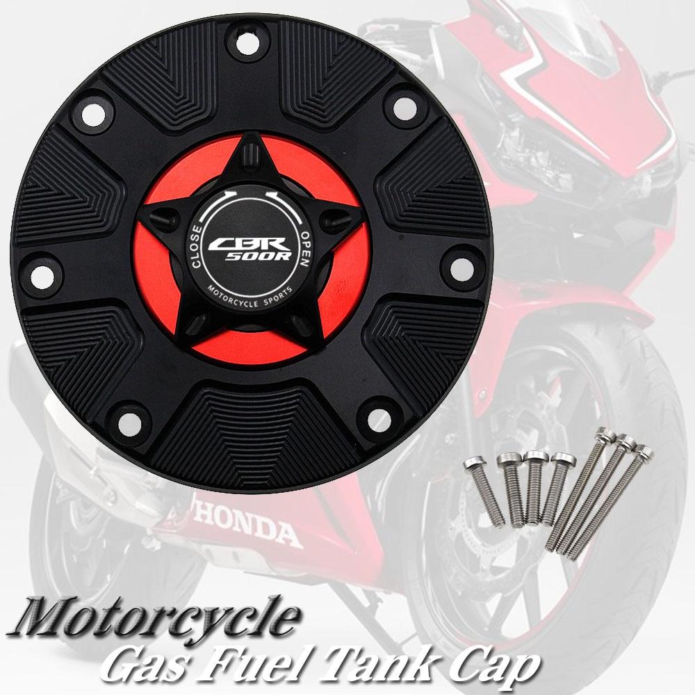 CNC Fuel Gas Tank Cap Cover Aluminum Keyless Motorcycle Accessories for HONDA CBR 500R CBR500R CBR500 R 2016-2018 2017