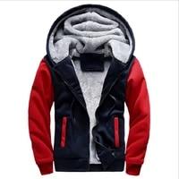 2021new mens pullover winter workout fleece hoodie full zip wool warm thick coats jackets