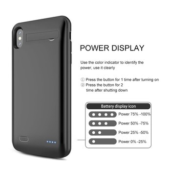 PINZHENG 6200mAh Battery Charger Case For iPhone 2