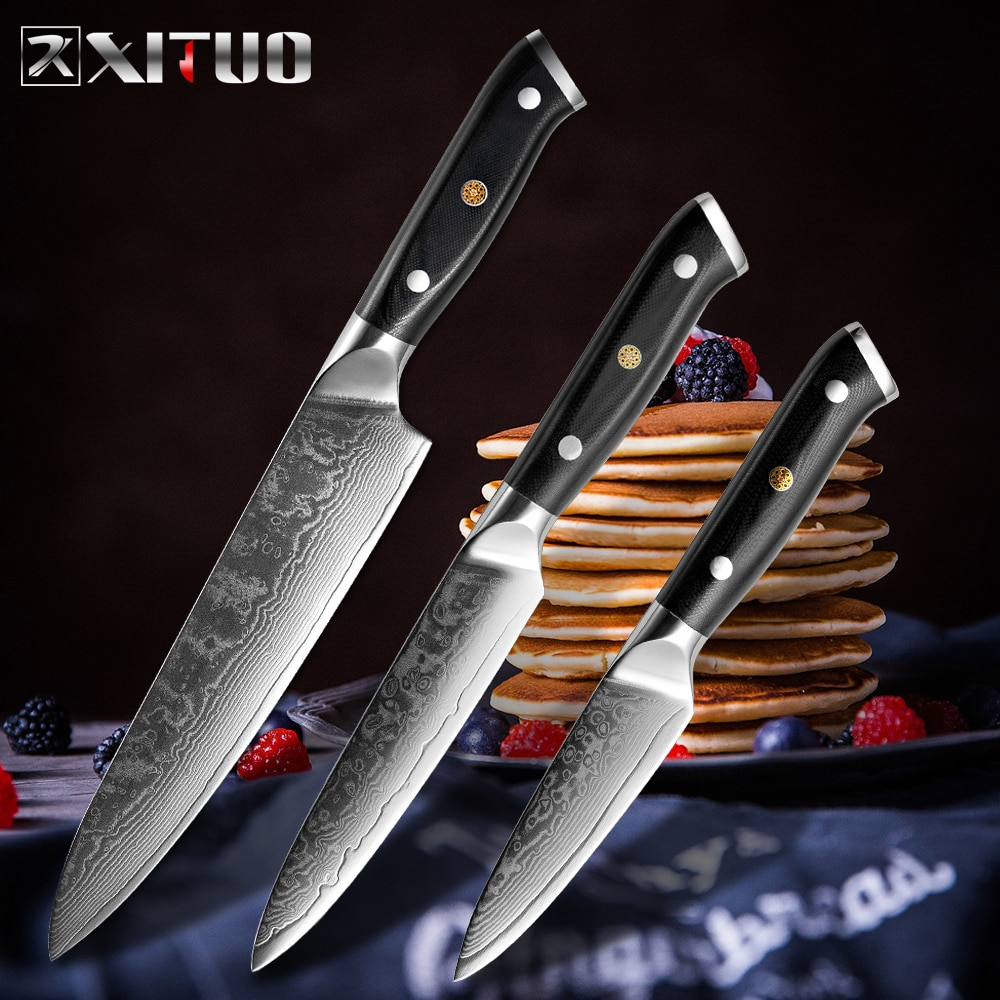 XITUO-أفضل سكاكين طهاة يابانية ، شفرة حادة فولاذية G10 ، ملحقات المطبخ ، أواني المطبخ