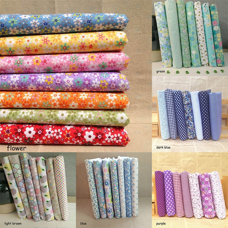Cotton Fabric Printed Clothes Bags Sewing Quilting Fabrics Patchwork Needlework Printed Home Supplies DIY Handmade Accessories