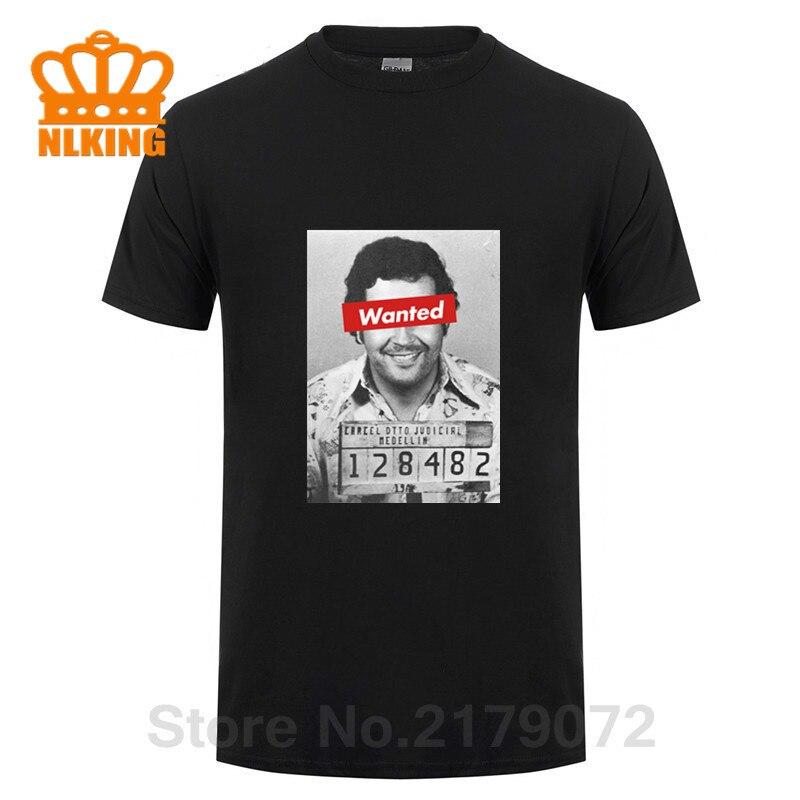 Parodia quería Pablo foto Escobar T camisas hombres Plata O Plomo camiseta Tops personalizados Plata O Plomo camisa EL patrón camisetas Retro