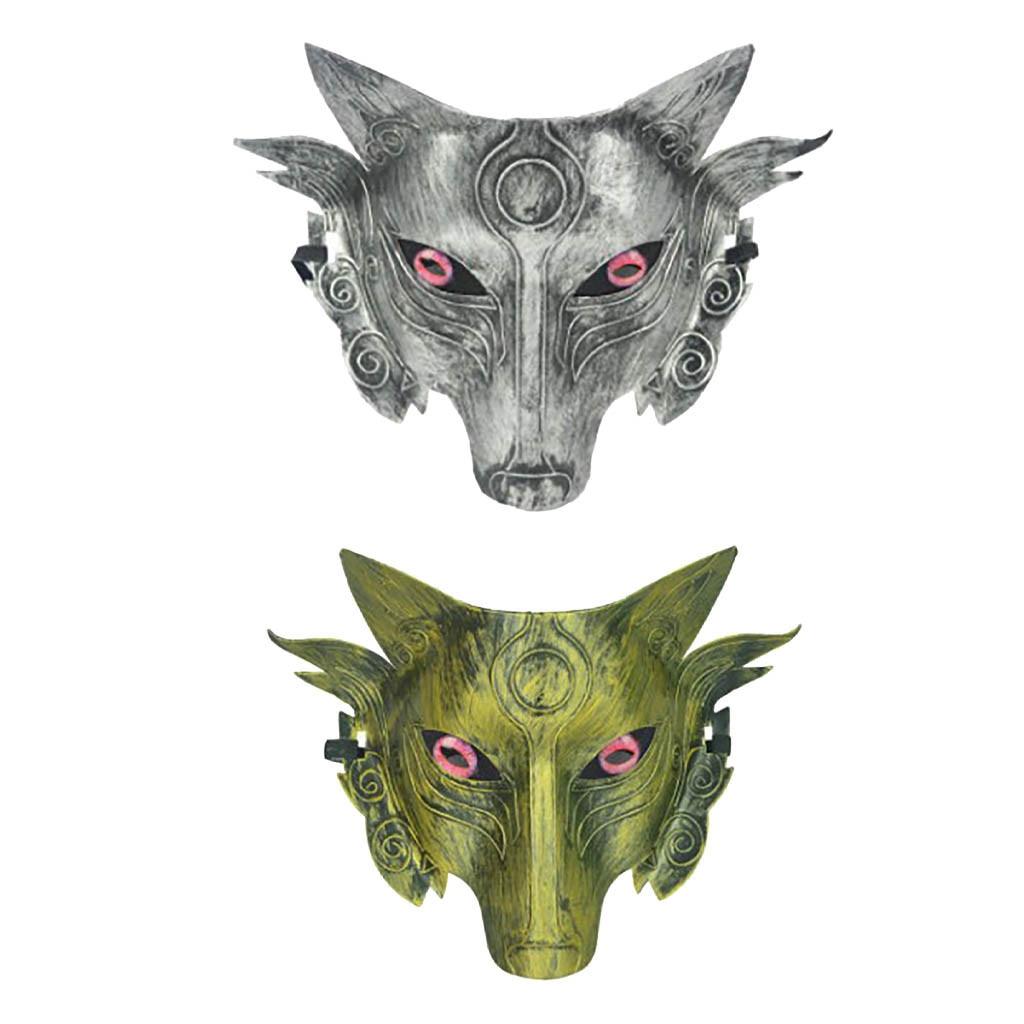 Máscaras de halloween cosplay Traje Lobo Máscara Facial masque маска para Homens Mulheres mascherine маски от короновируса