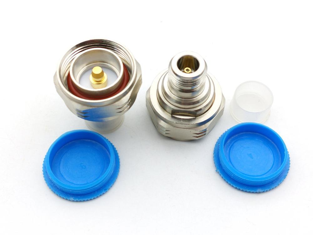 10 قطعة النحاس N جاك الإناث إلى L29 7/16 DIN التوصيل ذكر مستقيم RF محول