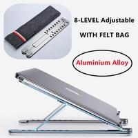 NEW 8-LEVEL Cooling Rack Folding Adjustable Angle Aluminum Alloy Desktop Portable Holder Office Universal Non Slip Laptop Stand